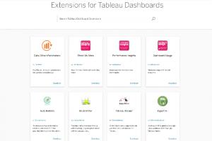 La création d'extensions maintenant possible dans Tableau