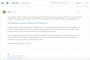 Dropbox arrête le support de systèmes de fichiers Linux chiffrés