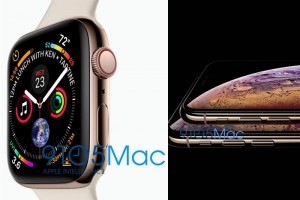 Premières photos des iPhone XS et Apple Watch 4