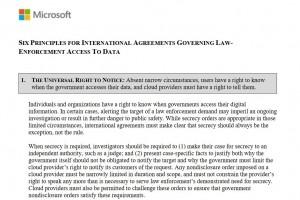 Microsoft édicte 6 principes pour répondre au Cloud Act