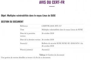 LeCERT-FRlance 3 alertes de sécurité concernant Suse etF5