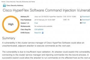 Cisco alerte sur 2 failles de sécurité HyperFlex