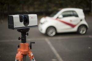 Un scanner Artec 3D travaillant jusqu'à 110 mètres