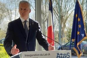 Bruno Le Maire inaugure le lab IA d'Atos