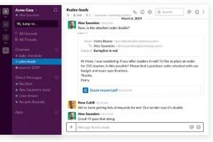 Slack s'int�gre encore plus � Office 365
