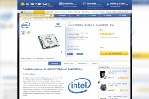 Le Core i9-9990XE d'Intel en vente pour la finance
