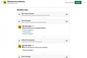 Slack prépare un outil de workflow sans code