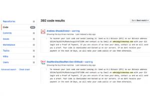 Des utilisateurs de GitHub piratés et rançonnés