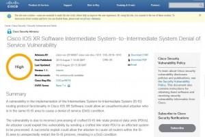 Cisco corrige deux failles à sévérité élevée sur IOS XR