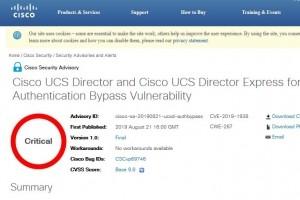Cloud privé : 4 failles critiques sur Cisco UCS Director