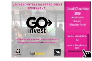 Go Invest réunit start-ups et investisseurs le 17 octobre à Rennes