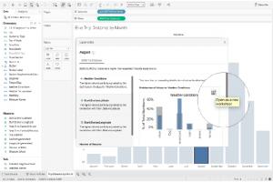 Avec Explain Data,Tableau explicite la visualisation des données