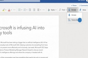 Dictée et retranscription en mode cloud pour Word en 2020