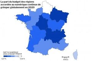 Enquête : Les budgets numériques 2020 des régions