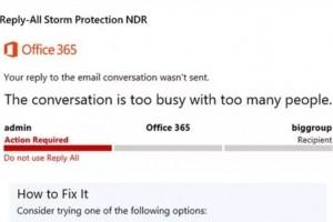 Microsoft bloque les tempêtes des e-mails « répondre à tous »
