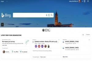 Microsoft propose une page « Bing entreprise homepage » liée à Office 365