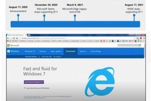 L'adieu programmé à Internet Explorer 11 démarre le 30 novembre 2020