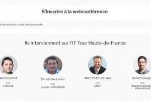 Web TV IT Tour Hauts-de-France avec les témoignages de Colisweb, Standard Industrie International et la CNAF