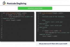 Ponicode documente automatiquement le code Python