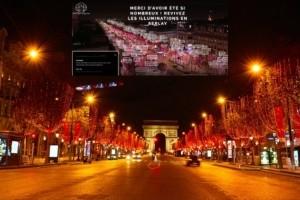 Ferrero Rocher accompagne l'illumination des Champs-Elys�es depuis Instagram et Facebook