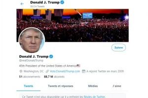 Etats-Unis : La riposte des r�seaux sociaux contre Donald Trump
