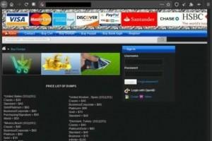 Le prix des données de cartes bancaires, PayPal et  sécurité sociale sur le dark web