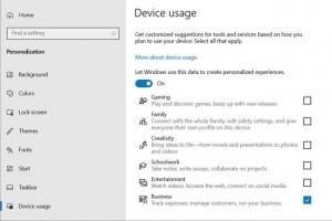 Windows 10 prêt à plus de personnalisation selon les usages