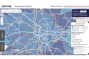 L'Arcep cartographie l'�ligibilit� 4G et fibre par d�partements