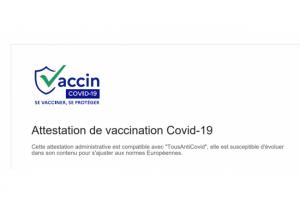 Ameli propose le t�l�chargement du QR Code du certificat de vaccination