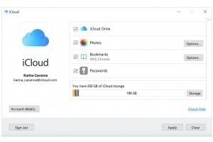 iCloud 12.5 pour Windows g�re les mots de passe dans le trousseau d'acc�s