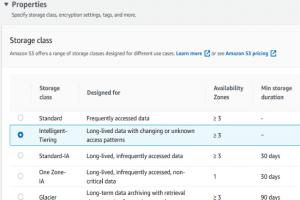 AWS fait �voluer Intelligent-Tiering pour S3 et EFS