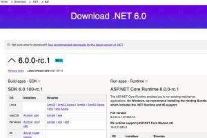 Microsoft .NET 6.0 passe en release candidate�