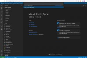 La version web de Microsoft Visual Studio Code en b�ta