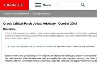 Oracle livre 301 correctifs de s�curit� sur sa mise � jour d'octobre