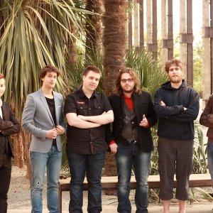 L'équipe de Clevercloud avec Quentin Adam au milieu. Cliquez pour agrandir la photo
