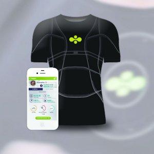 Cityzen Sciences travaille sur le D-Shirt doté de capteurs intelligents souples intégrés au tissu.