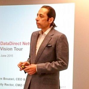 Alex Bouzari, CEO et chairman de DirectData Networks, le 24 juin au siège de la compagnie à Santa Clara. (crédit : S.L.)