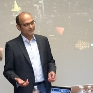 Sunil Khandekar, CEO de Nuage Networks à Mountain View. (crédit : S.L.)