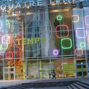 Le centre des 4 Temps, à la Défense, pousse des promotions aux clients identifiés dans les galeries commerciales. (Crédit D.R.)