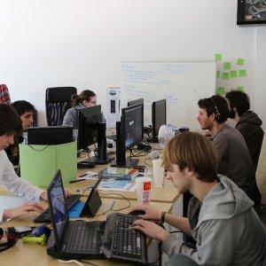 Un espace de Coworking dans les incubateurs de Creative Valley. (Crédit D.R.)