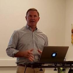 Gregg Holzrichter, CMO de Big Switch Networks, au si�ge de la start-up � Santa Clara. (cr�dit : S.L.)