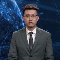 Xinhua, le robot pr�sentateur du journal t�l�vis� de l'agence de presse de l'�tat chinois.
