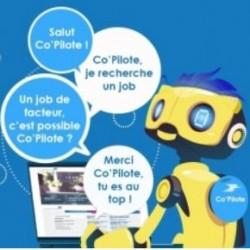 La Poste a créé en 2017 Co'Pilot, un chatbot qui répond aux questions des candidats tous les jours et à toute heure.