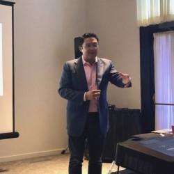 Simon Taylor, le CEO de Hycu, est venu avec son équipe à Sunnyvale nous présenter les prochaines solutions de la société. (Crédit S.L.)