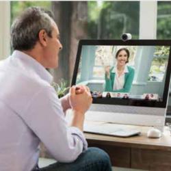 Avec Webex, vous pouvez choisir de visualiser la personne qui parle ou tous les participants à la fois.