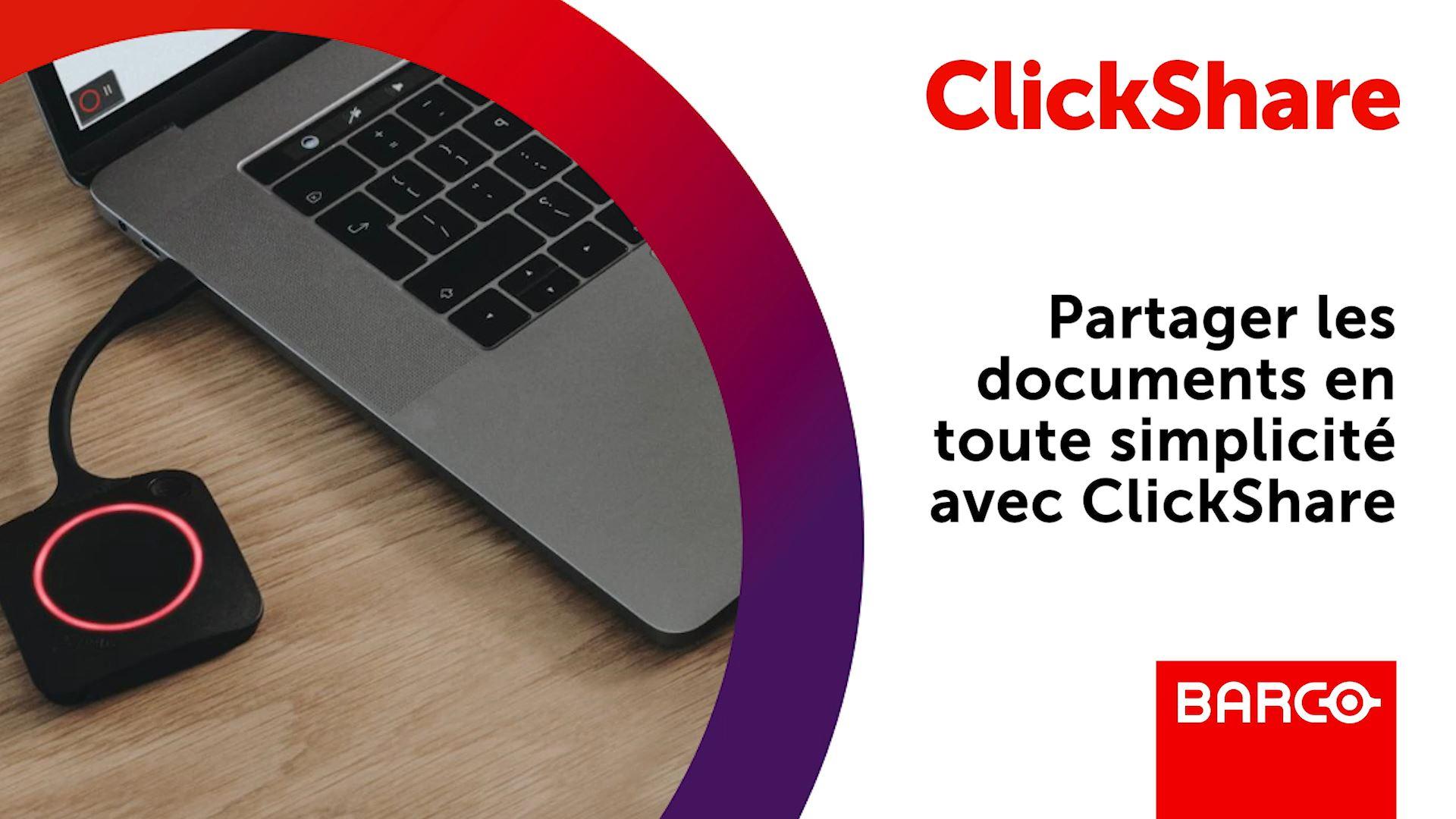 Partager les documents en toute simplicit� avec ClickShare